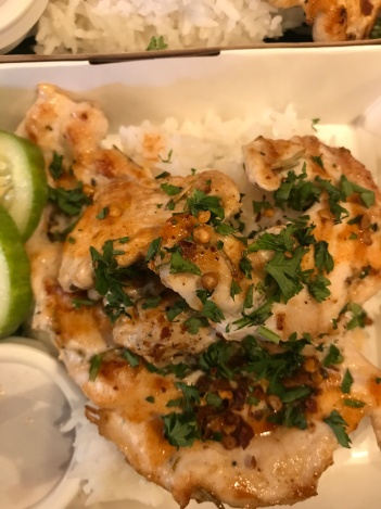 Grilled Herb Chicken with Plain Rice