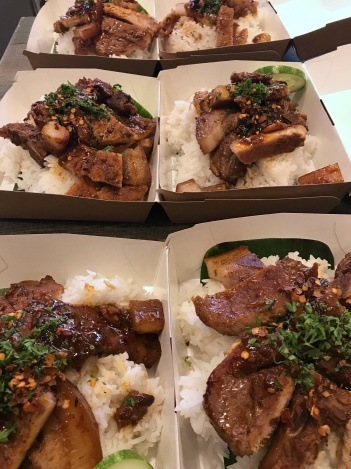 Honey Grilled Pork Chop with Plain Rice